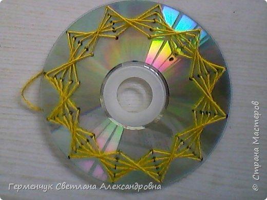 С неисправного СД диска решила сделать  фоторамку. фото 4