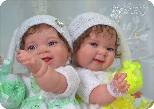 """Здравствуйте, дорогие мои:)! Хочу познакомить вас с моими""""ново-рождёнными"""" детками. Сестрёнки-подружки Леся и Ася. Роспись красками генезис, волосики и реснички- натуральный мохер.Куколки полностью виниловые. Рост малышек 35см, вес около 1кг. фото 15"""