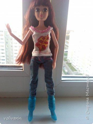 Ура, у наших пупсов появилась мама! Первый раз шила взрослую одежду на куклу, вышло как обычно кривовато, но зато все на мой взгляд хорошо сочетается.  фото 5