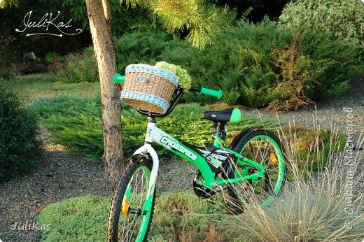 """Доброй ночи, коллеги!  Решилась я на эксперимент - велокорзинки детские... давно меня восхищали плетеные велокорзины, решила начать с детских, к тому же их можно сделать яркими, дети это любят, а я как люблю баловаться цветом.... вот и оттянулась )))) """"Корзинка лесной феи"""" размер 26х17 см, h 15 см фото 8"""