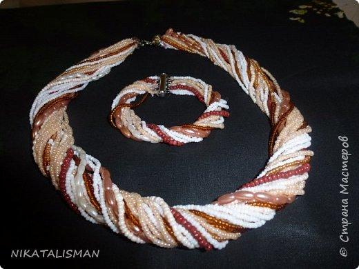 Набор из Бисера- бусы и браслет. фото 1
