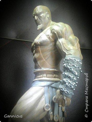 God of war кратос из скульптурного пластилина. фото 4