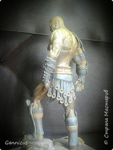 God of war кратос из скульптурного пластилина. фото 5