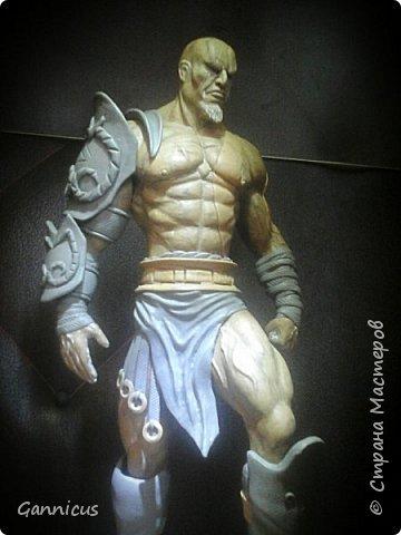 God of war кратос из скульптурного пластилина. фото 2