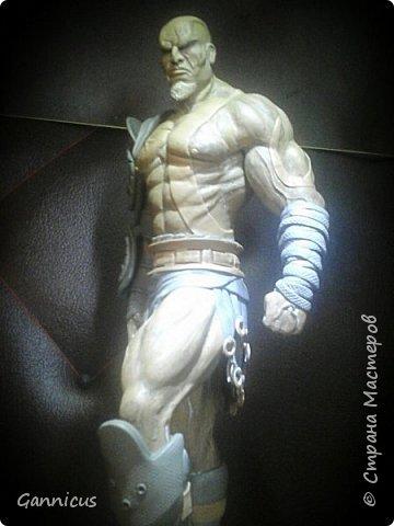 God of war кратос из скульптурного пластилина. фото 1