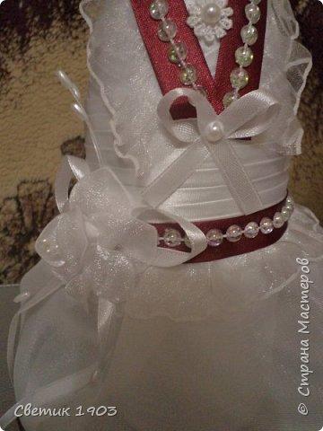 """Очередной наборчик подготовлен  на свадьбу. В этот раз в цвете """"бордо"""".  Свадебная парочка и сундук-казна.  фото 4"""