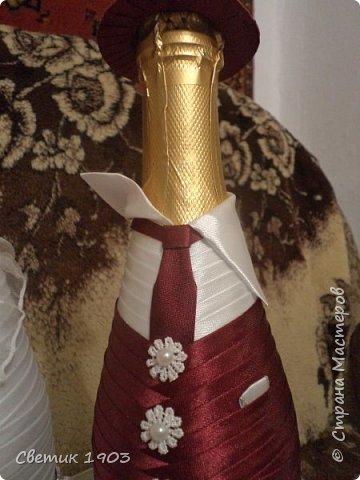 """Очередной наборчик подготовлен  на свадьбу. В этот раз в цвете """"бордо"""".  Свадебная парочка и сундук-казна.  фото 6"""