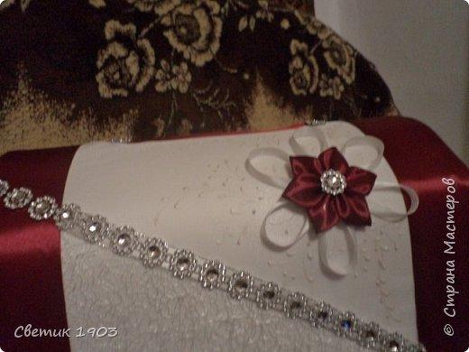 """Очередной наборчик подготовлен  на свадьбу. В этот раз в цвете """"бордо"""".  Свадебная парочка и сундук-казна.  фото 9"""