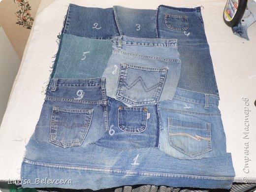Доброго времени суток всем, кто заглянул на мою страничку! Хочу поделиться с вами еще одной идеей использования старых джинсов в хозяйстве. Работа такого плана - первая в моей жизни, поэтому не судите строго! фото 6