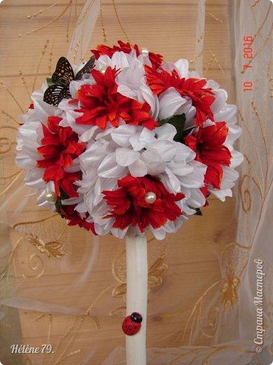 Здравствуйте, дорогие соседи! Сегодня у меня свадебный пост.   Этот плюшевый букет делала на свадьбу племяннице мужа. фото 28