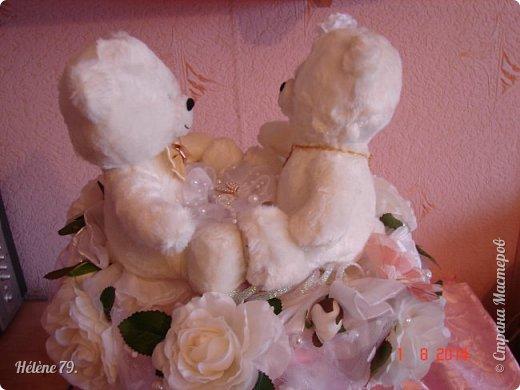 Здравствуйте, дорогие соседи! Сегодня у меня свадебный пост.   Этот плюшевый букет делала на свадьбу племяннице мужа. фото 7
