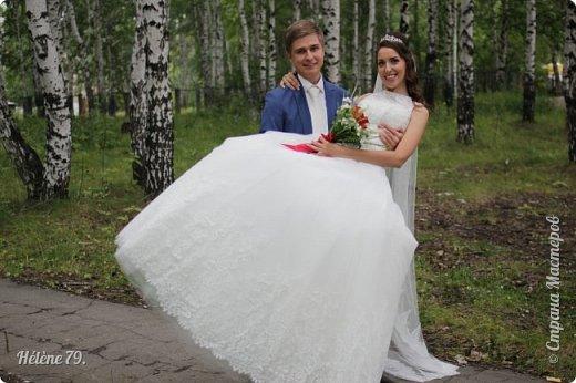 Здравствуйте, дорогие соседи! Сегодня у меня свадебный пост.   Этот плюшевый букет делала на свадьбу племяннице мужа. фото 18