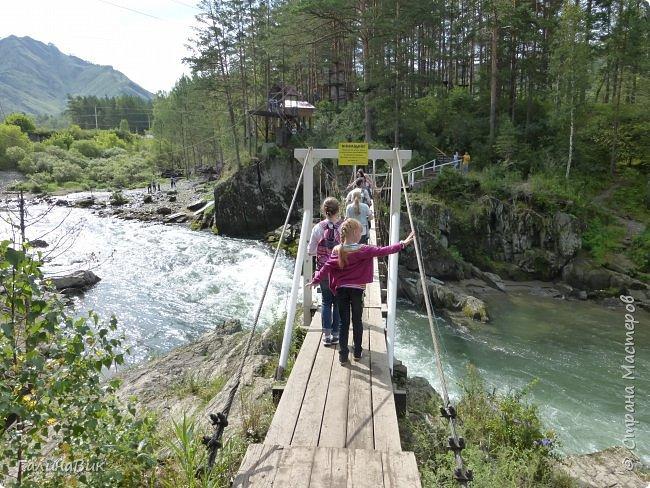29 июля мы совершили поход к Камышлинскому водопаду, расположенному на реке Камышла, являющейся левым притоком Катуни. Этот водопад - памятник природы Республики Алтай с 1996 года. фото 32