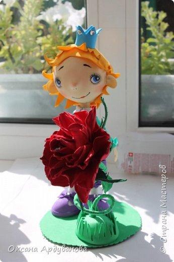 Маленький принц и его капризная роза!!!! Лицо нарисовано по мастер классу: Роспись мордочки, глаза и тд. http://stranamasterov.ru/node/699302 фото 3