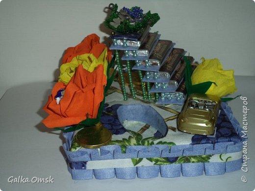 """Это лестница успеха. Сделана мною в подарок мужчине на день рождения.Назвала её """"Виноградная лоза"""", поскольку виноград считается символом богатства и успеха  фото 4"""