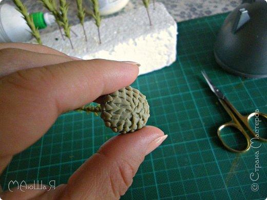Здравствуйте всем заглянувшим. Лепила необычное растение, которое добавляют в букеты-брунию. Решила показать сам процесс, мини МК что ли. Я в первый раз, так что спрашивайте, что не ясно))) фото 8