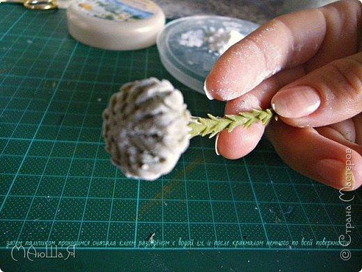 Здравствуйте всем заглянувшим. Лепила необычное растение, которое добавляют в букеты-брунию. Решила показать сам процесс, мини МК что ли. Я в первый раз, так что спрашивайте, что не ясно))) фото 10