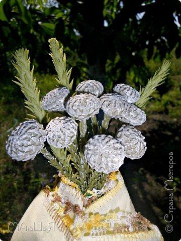 Здравствуйте всем заглянувшим. Лепила необычное растение, которое добавляют в букеты-брунию. Решила показать сам процесс, мини МК что ли. Я в первый раз, так что спрашивайте, что не ясно))) фото 11