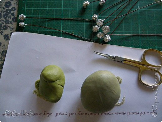 Здравствуйте всем заглянувшим. Лепила необычное растение, которое добавляют в букеты-брунию. Решила показать сам процесс, мини МК что ли. Я в первый раз, так что спрашивайте, что не ясно))) фото 4