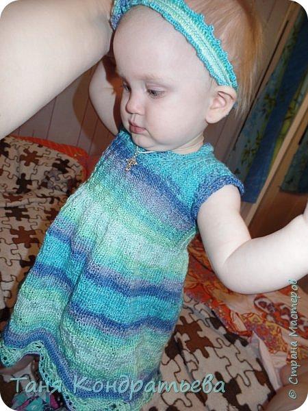 Платье связано на спицах фото 1