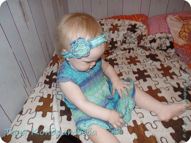 Платье связано на спицах фото 2