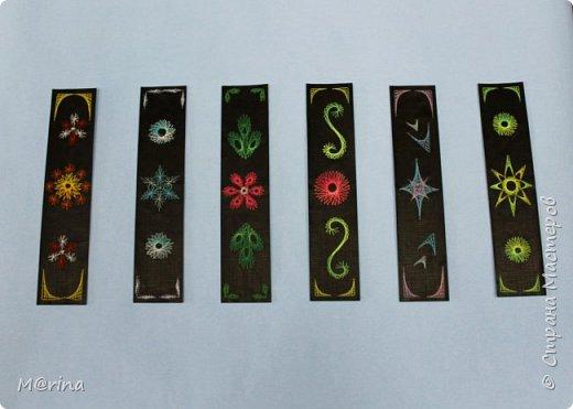 Приближается новый учебный год, и я хочу предложить вам сделать оригинальную закладку для школьных учебников в технике изонити.   фото 2