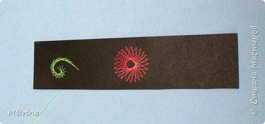 Приближается новый учебный год, и я хочу предложить вам сделать оригинальную закладку для школьных учебников в технике изонити.   фото 21