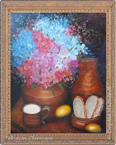Живопись - мое новое увлечение)) Мои первые картины маслом. 1. Гортензия на балконе. Холст, масло. 60х60 фото 4
