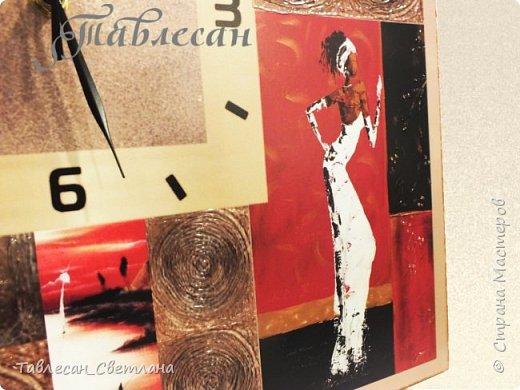 """Здравствуйте, дорогие жители Страны Мастеров!  Давно не выкладывала своих работ) Собралось довольно много разного.. Тут соберу часы из последнего невыложенного. Техники смешанные, роспись акриловыми контурами, жидким жемчугом, 3D-гелем, витражными красками  1. Часы настенные """"Арабеска"""" в восточном стиле в красных тонах фото 19"""