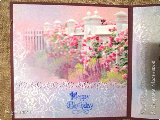 Всем, всем здравствуйте! Уже давно влюбилась в открытку   Светланы http://stranamasterov.ru/node/227686?c=favorite,  а тут и случай удачный подвернулся, юбилей у коллеги! Вот решила сделать что-то наподобие... фото 8