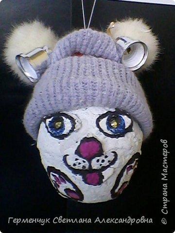Кролик из бросового материала -папье маше фото 1