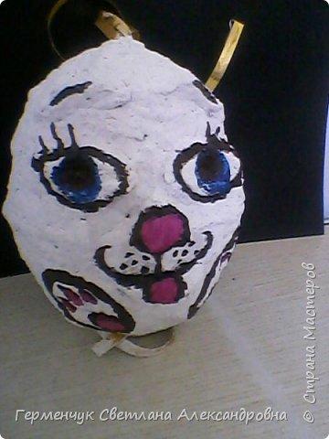 Кролик из бросового материала -папье маше фото 2
