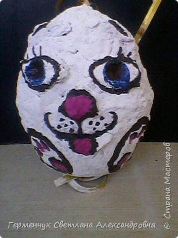 Кролик из бросового материала -папье маше фото 3