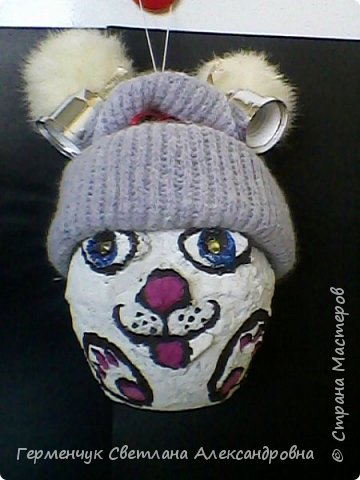 Кролик из бросового материала -папье маше фото 4