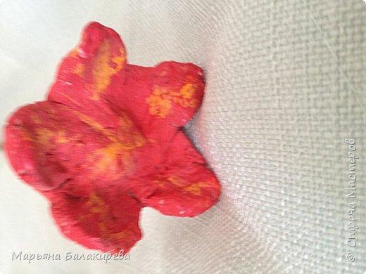 Еще из папье- маше  я слепила вот такой букет цветов. фото 5