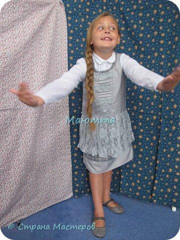 Сшила своей второклашке новый сарафан для школы. Дресс-код соблюли, а фасончик, как всегда - бохо. Деликатный, конечно, можно сказать, нежный бохо))) фото 6
