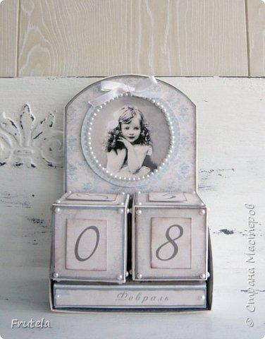 Давно хотелось сделать такой календарик.Выбрала винтажный стиль. фото 1