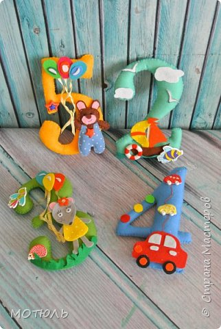 Добрый день страна!!Покажу сегодня свое шитье. Это именные гирлянды из фетра, декоративные цифры на рождение малышей и подушечки . фото 18