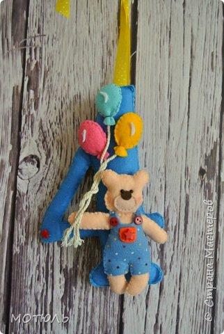 Добрый день страна!!Покажу сегодня свое шитье. Это именные гирлянды из фетра, декоративные цифры на рождение малышей и подушечки . фото 17