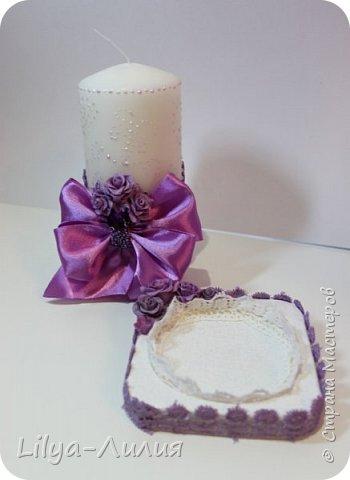 Попросили сделать небольшой  наборчик на сиреневую свадьбу.  Вот, что у меня получилось.  фото 9