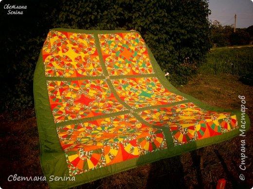 """Первое одеяло, выполненное в технике """"пэчворк"""" (лоскутное шитьё). фото 1"""