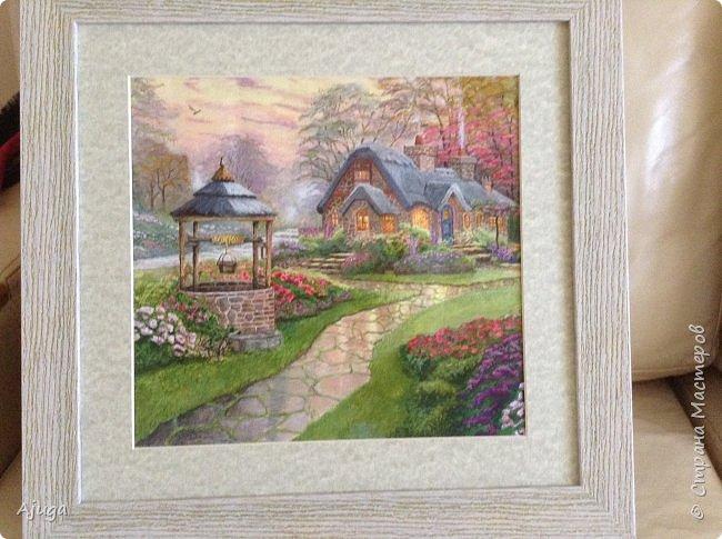 Очень люблю картины Томаса Кинкейда, американского живописца, Очень захотелось  его покопировать, поподражать ему и вот что у меня получилось . фото 8
