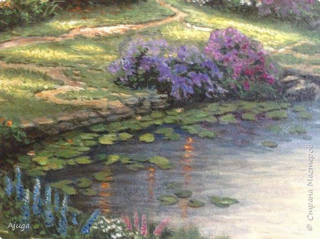 Очень люблю картины Томаса Кинкейда, американского живописца, Очень захотелось  его покопировать, поподражать ему и вот что у меня получилось . фото 10