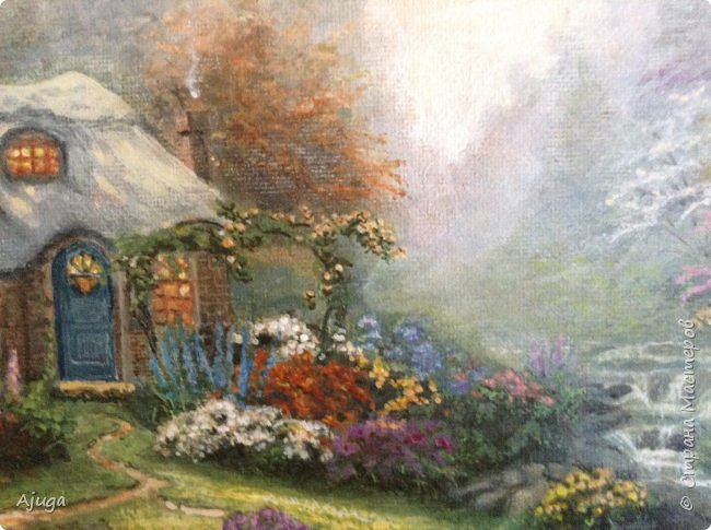 Очень люблю картины Томаса Кинкейда, американского живописца, Очень захотелось  его покопировать, поподражать ему и вот что у меня получилось . фото 11