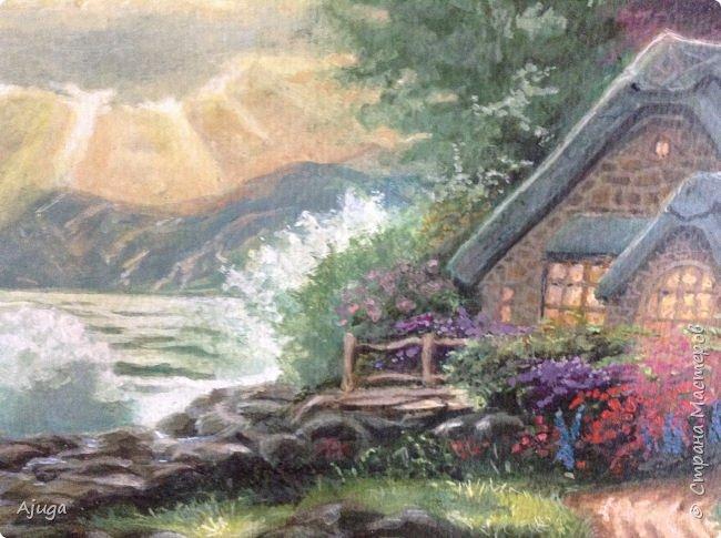 Очень люблю картины Томаса Кинкейда, американского живописца, Очень захотелось  его покопировать, поподражать ему и вот что у меня получилось . фото 2