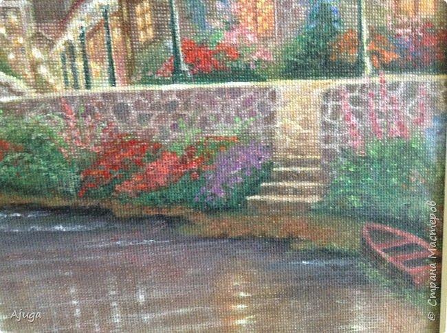 Очень люблю картины Томаса Кинкейда, американского живописца, Очень захотелось  его покопировать, поподражать ему и вот что у меня получилось . фото 15