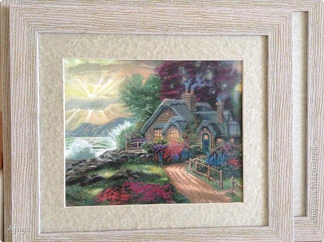 Очень люблю картины Томаса Кинкейда, американского живописца, Очень захотелось  его покопировать, поподражать ему и вот что у меня получилось . фото 3