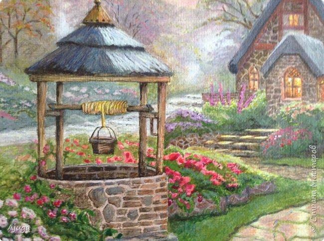 Очень люблю картины Томаса Кинкейда, американского живописца, Очень захотелось  его покопировать, поподражать ему и вот что у меня получилось . фото 5