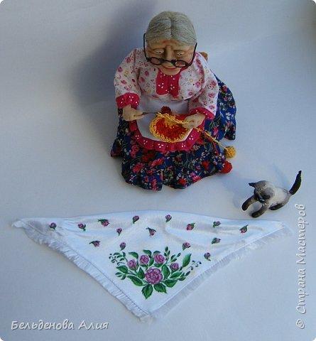"""Очень мне нравится шить наряды куклам, поэтому и сделала такую бабушку. Здесь есть где """"разгуляться"""". фото 5"""