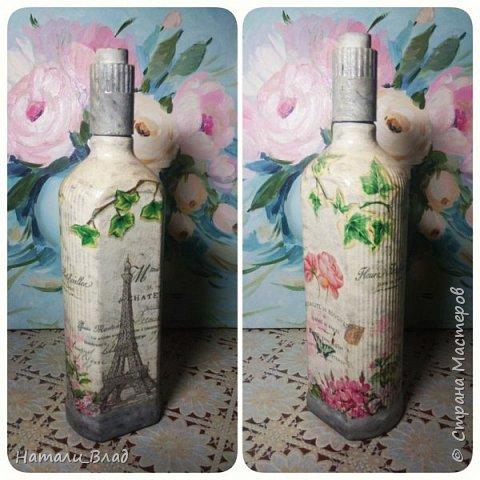 Декупаж бутылочек фото 2